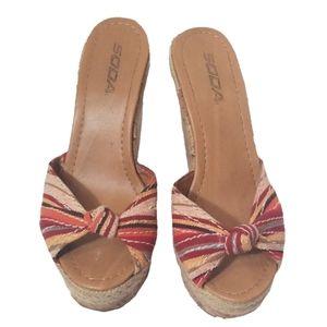 Soda Wedge Sandals size 7.